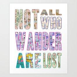 {wander} Art Print