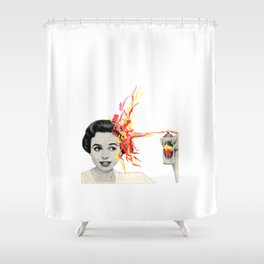 My head's not in the game Shower Curtain