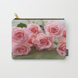 TAKE TIME TO SMELL THE ROSES Carry-All Pouch