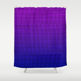 Abstract Purple/Blue Gradient Shower Curtain