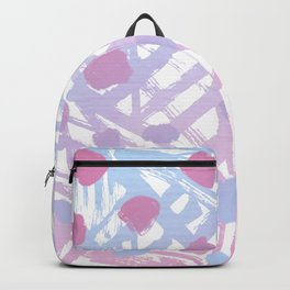 Abstract Paint Pattern Purple Backpack