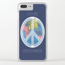 Future Peace Maker Clear iPhone Case
