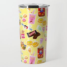Asian Sweets Pattern Travel Mug