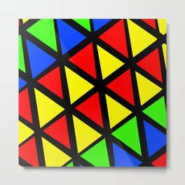 Multicolored Triangle Patter Metal Print