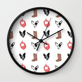 Blue Heelers Wall Clock