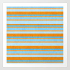 Something Fishy Stripes. Art Print