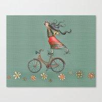 joy Canvas Prints featuring Joy by Catru