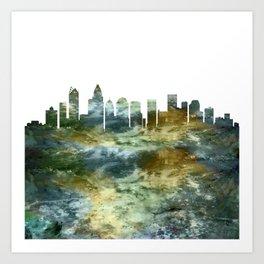 Charlotte City Skyline Art Print