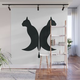 Cat inkblots Wall Mural
