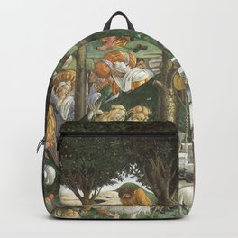 Trials of Moses Painting by Botticelli - Sistine Chapel Backpack