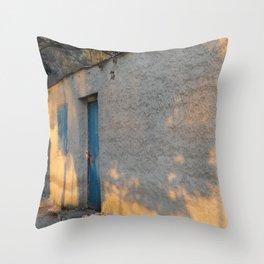 Sleepy Garden Wall Throw Pillow