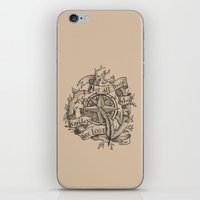 """not all those who wander are lost iPhone & iPod Skins featuring """"Not all those who wander are lost"""" by Rose24601"""