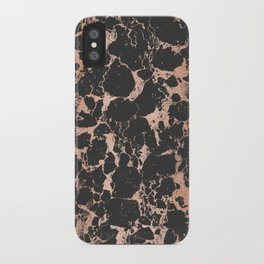 Marble Black Rose Gold - DNA iPhone Case