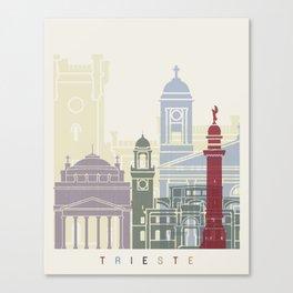 Trieste skyline poster Canvas Print