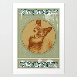 cat in the MiDDLE Art Print
