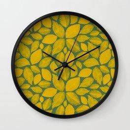 Fall. Wall Clock