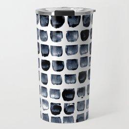 Black Brush Pattern Travel Mug