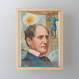 Admiral Farragut, from the series Great Americans (N76) for Duke brand cigarettes Framed Mini Art Print