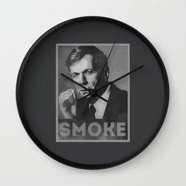 Smoke! Funny Obama Hope Parody (Smoking Man)  Wall Clock