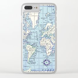 A Really Nice Map Clear iPhone Case