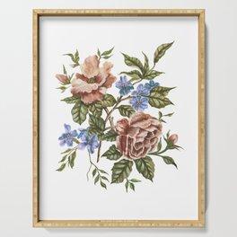 Rustic Florals Serving Tray