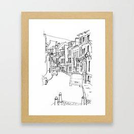 Brussels Streetscape Framed Art Print