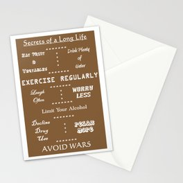Secrets to a Long Life Stationery Cards