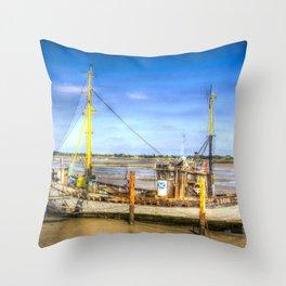 "Heybridge Basin Boat "" The Ranger "" Throw Pillow"