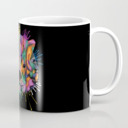 Wombat Face Color Splashes Coffee Mug