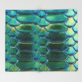 Aqua Scales Throw Blanket