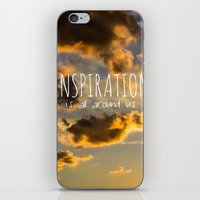 inspiration iPhone & iPod Skins featuring Inspiration by Michelle McConnell