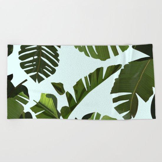 Palm Pattern Beach Towel