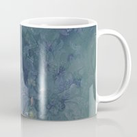 vintage floral Mugs featuring Vintage floral by nicky2342