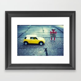 Support Your Local Robot Framed Art Print
