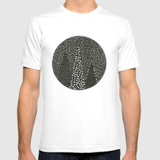 Mountain Constellation White Mens Fitted Tee MEDIUM