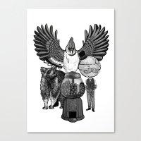 regular show Canvas Prints featuring Regular by Duane Marquez