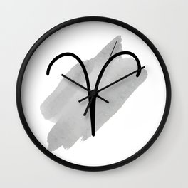 ARIES March 21 - April20, The Ram, Symbols Horoscope And Astrology Line Signs Wall Clock