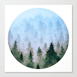 Magical Misty Woods Canvas Print