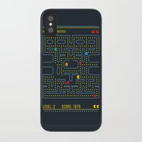 pacman iPhone & iPod Cases featuring Pacman by Virbia