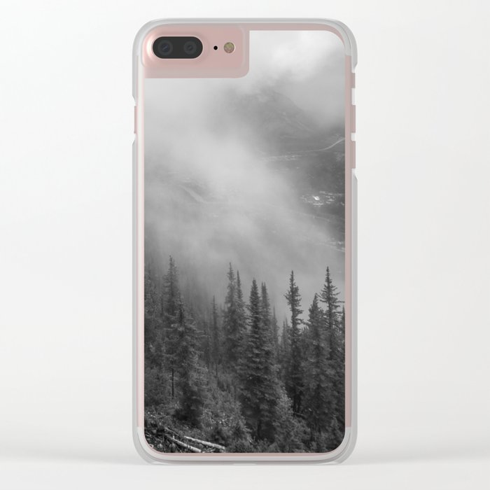 Fog in the Mountains Clear iPhone Case