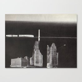 the buildings dream Canvas Print