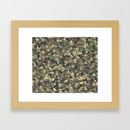 Fast food camouflage Framed Art Print