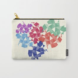 Background of geometric shapes. Colorful mosaic pattern Carry-All Pouch