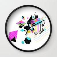gravity Wall Clocks featuring Gravity by Muxxi