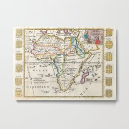 Vintage Map of Africa (1710) Metal Print
