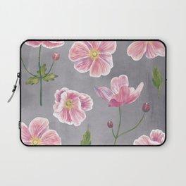 Japanese Anemone Flower Painting Laptop Sleeve