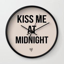 Kiss Me Midnight Wall Clock