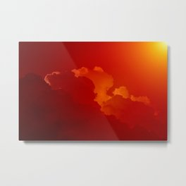 Beauty in the Sky- Photo of clouds in a sunset Metal Print