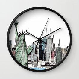 New York. Wall Clock