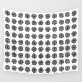 Black and White Mandala   Secret Geometry Wall Tapestry